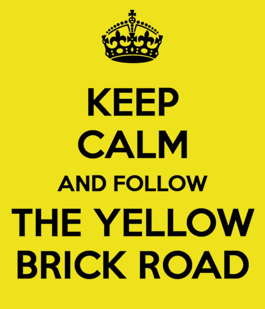 Keep Calm On The Yellow Brick Road