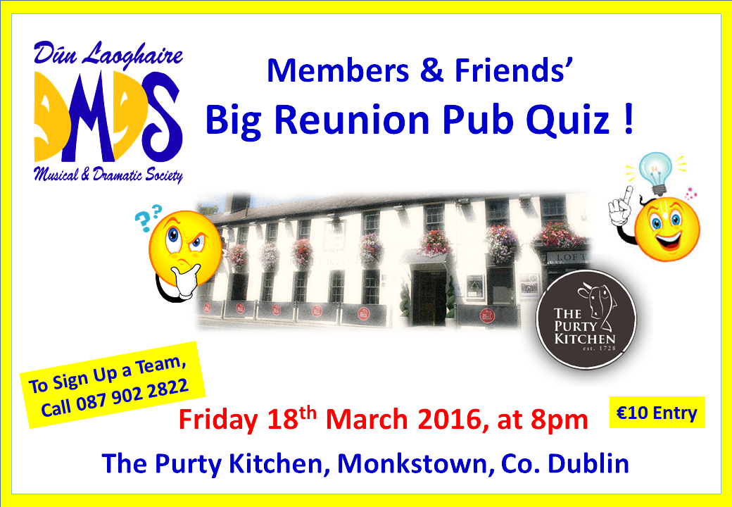Reunion Table Quiz 2016